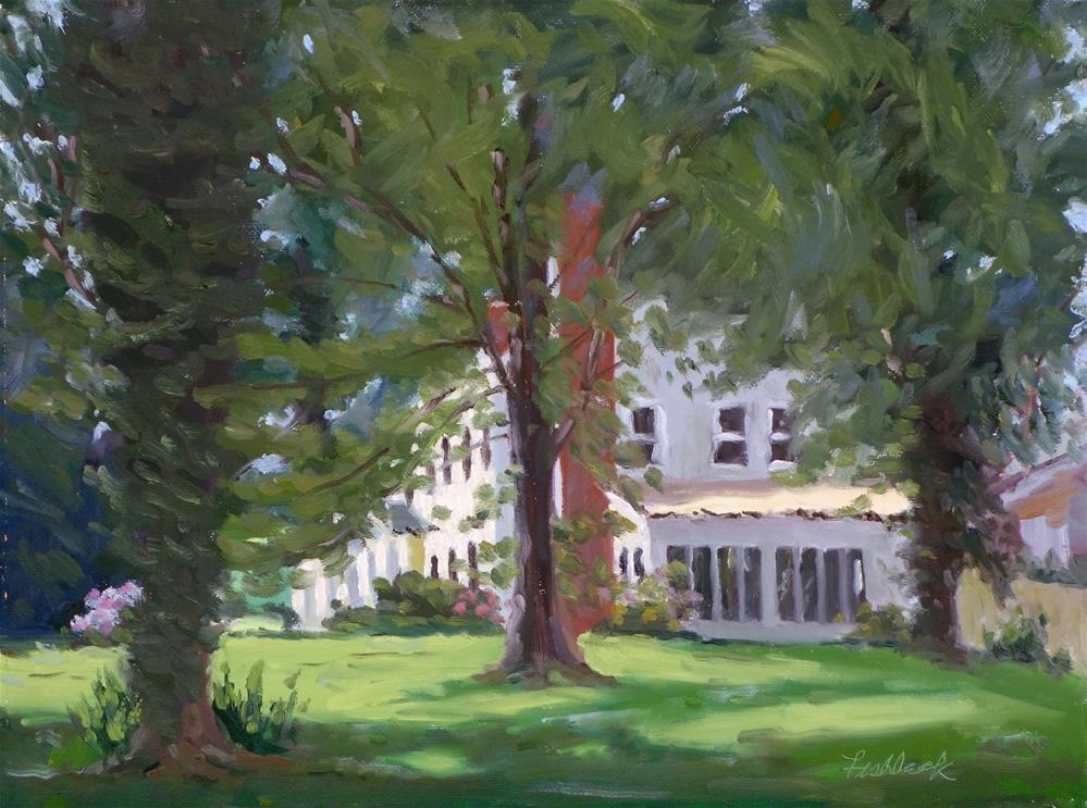 """House on Merril, en plein air"" original fine art by Daniel Fishback"