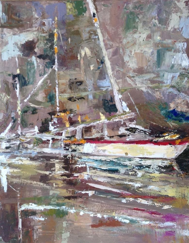 """""""Java Floats"""" original fine art by Angela Hansen"""