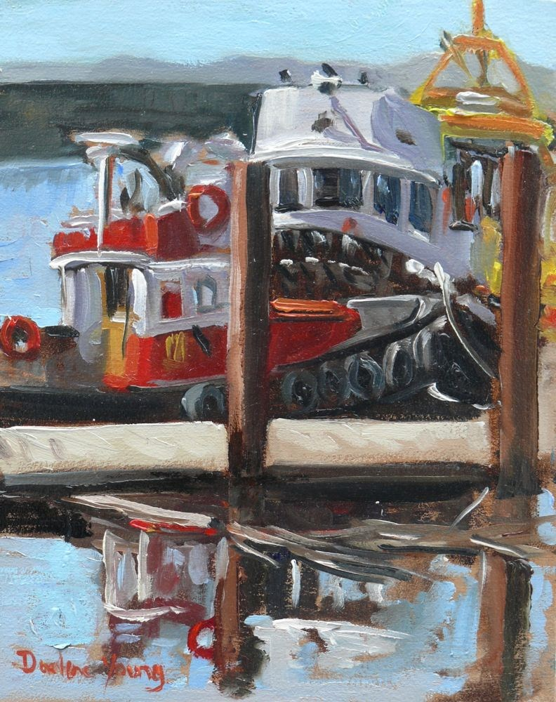 """Ogden Point Scene"" original fine art by Darlene Young"