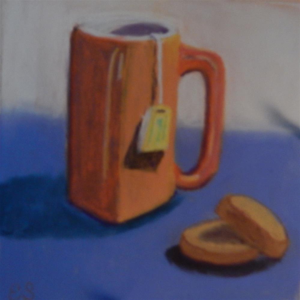 """""""Tea for One"""" original fine art by Elaine Shortall"""