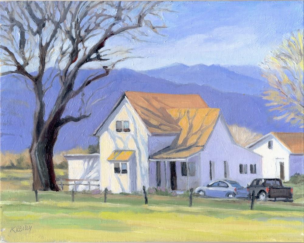 """Farm in Spring"" original fine art by Kath Reilly"