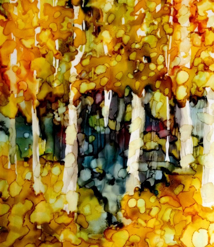 """""""Wet Fall"""" original fine art by Kristen Dukat"""