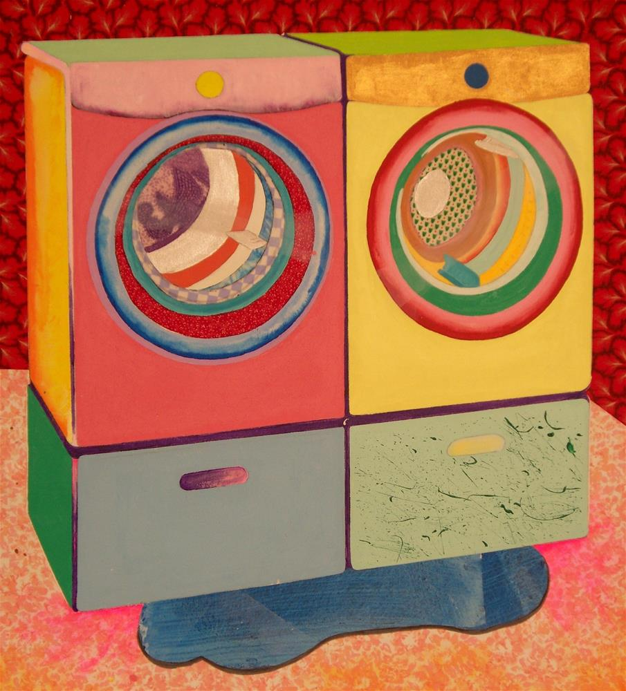 """Washer and Dryer with Problem"" original fine art by Lisa Fulton"