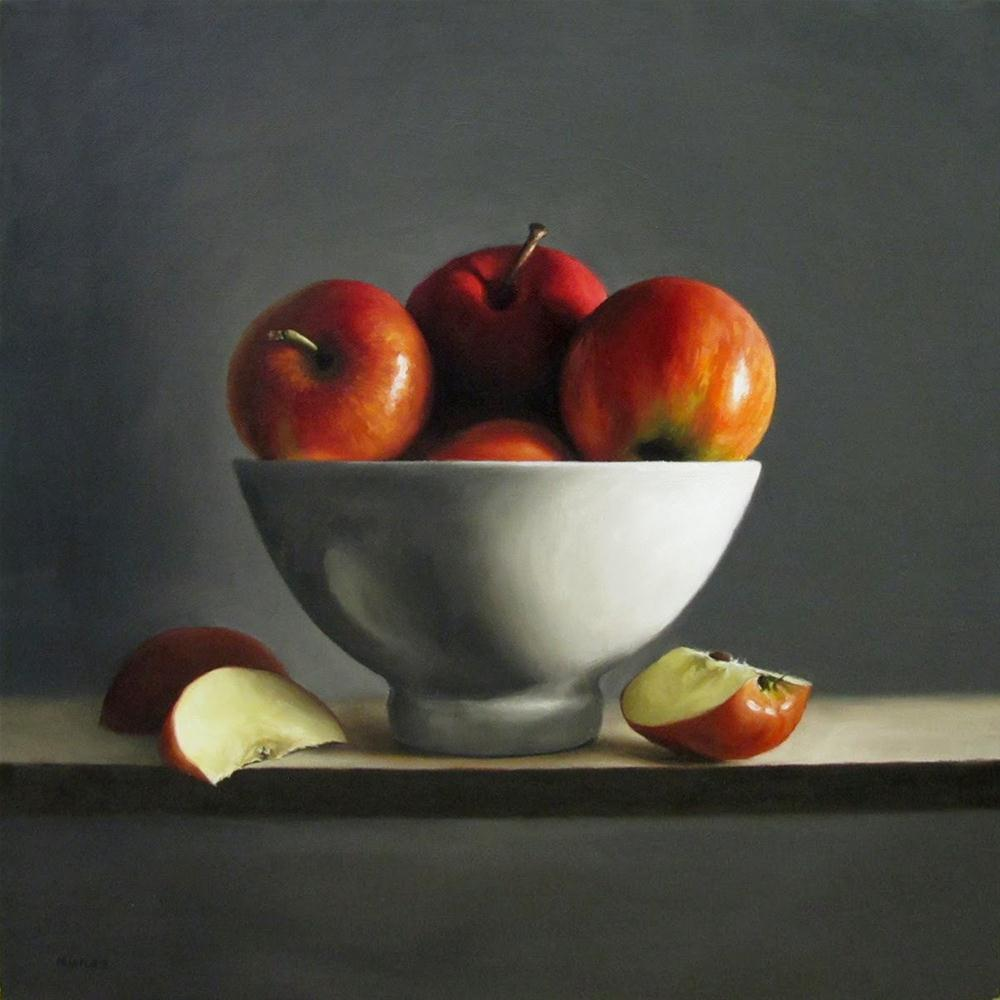 """Bowl of Apples"" original fine art by Michael Naples"