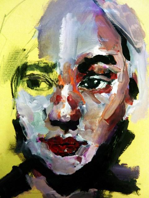 """""""Portrait bunt / portrait colorful"""" original fine art by Mila Plaickner"""