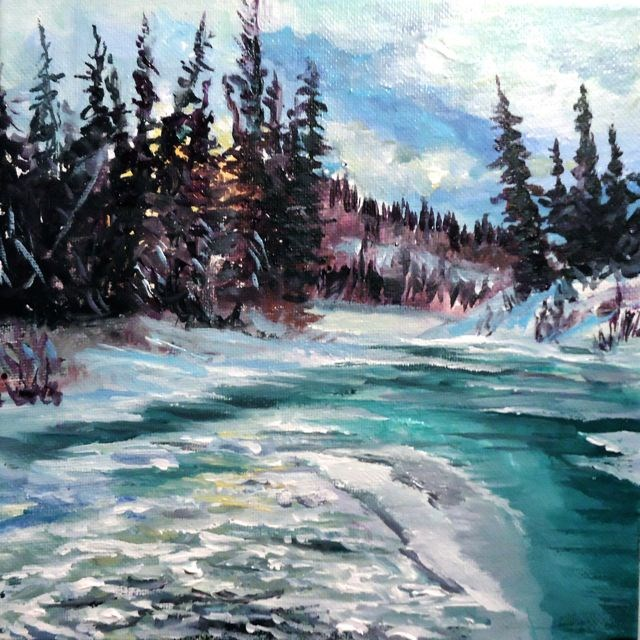 """A Walk Along the Magundy"" original fine art by Jackie Irvine"