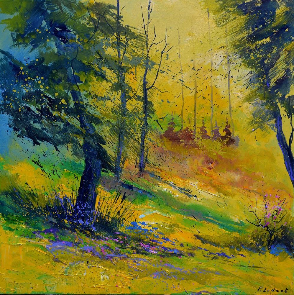 """In the wood 776190"" original fine art by Pol Ledent"