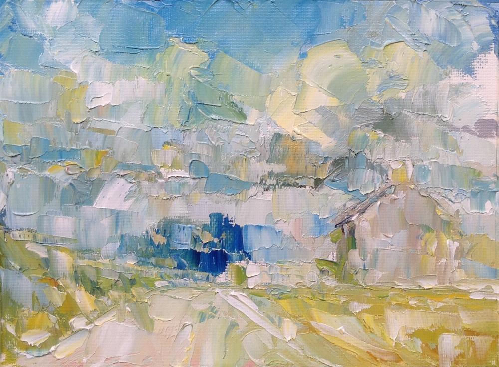 """""""A farmers home"""" original fine art by Joseph Mahon"""