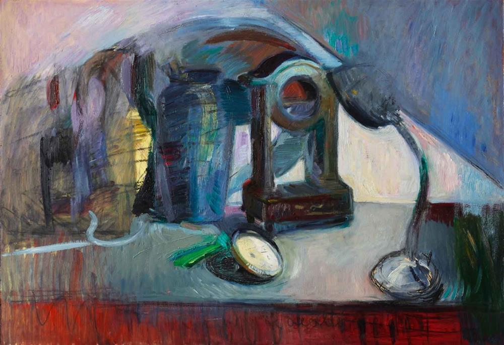 """Shadows of Abstract Time — Still Life with Broken Clock"" original fine art by Anna  Fine Art"