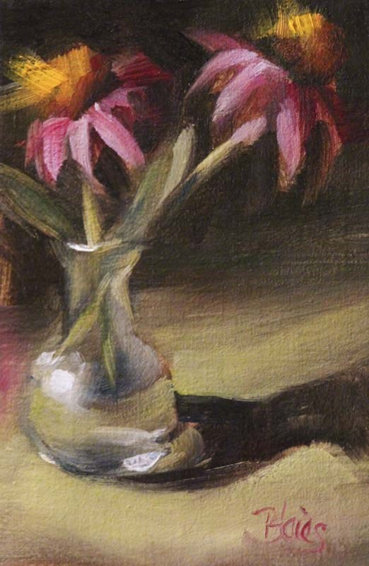 """Freshly Cut Coneflowers"" original fine art by Pamela Blaies"
