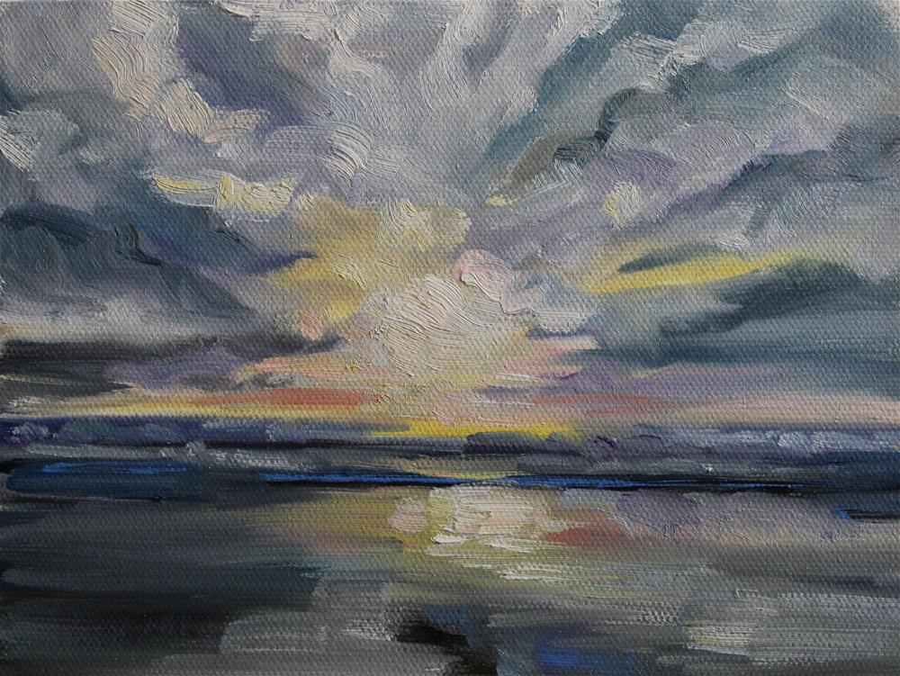 """Dramatic Clouds"" original fine art by H.F. Wallen"