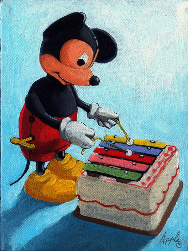 """Musical Mickey Mouse"" original fine art by Linda Apple"
