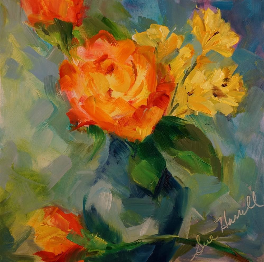 """Small Bouquet"" original fine art by Sue Harrell"