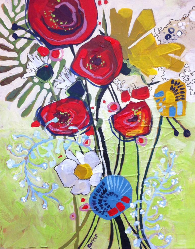 """Wild flowers"" original fine art by Teddi Parker"