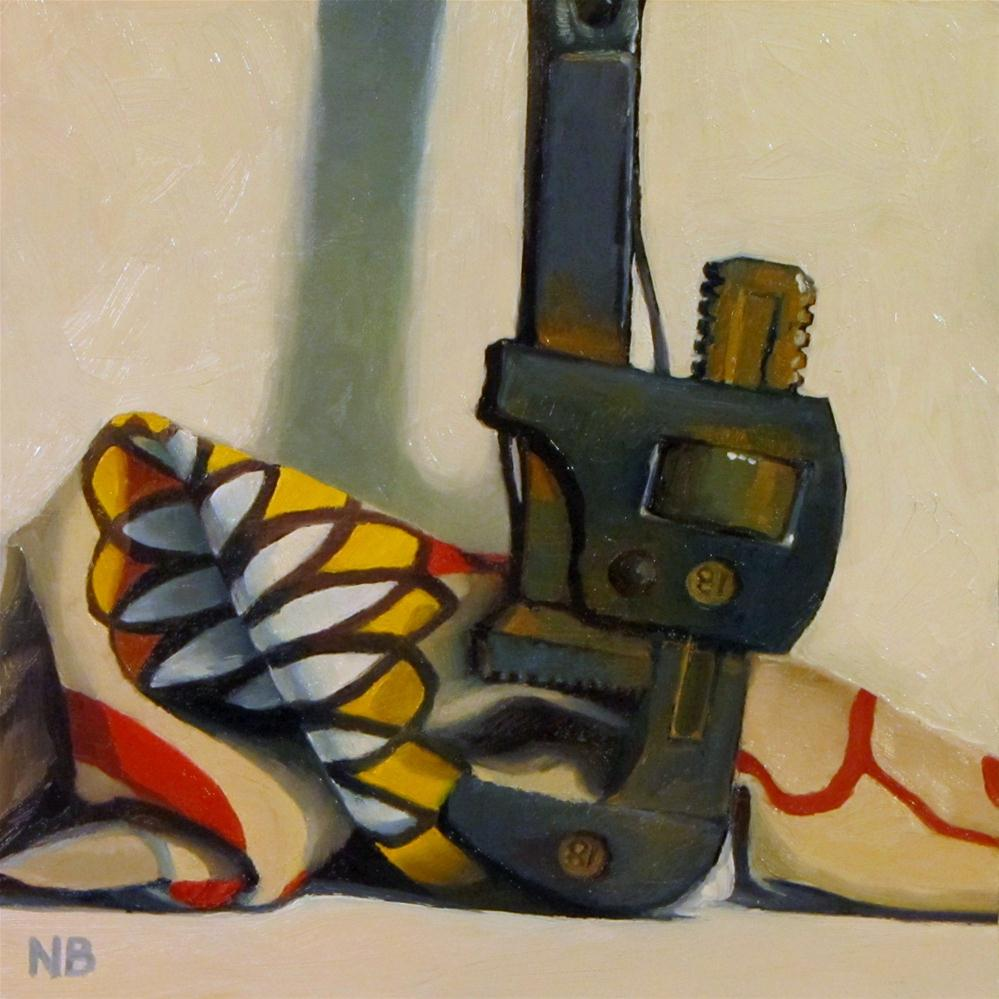 """Pipe Wrench"" original fine art by Nora Bergman"
