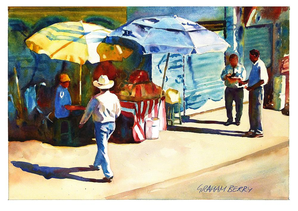 """Street vendor."" original fine art by Graham Berry"