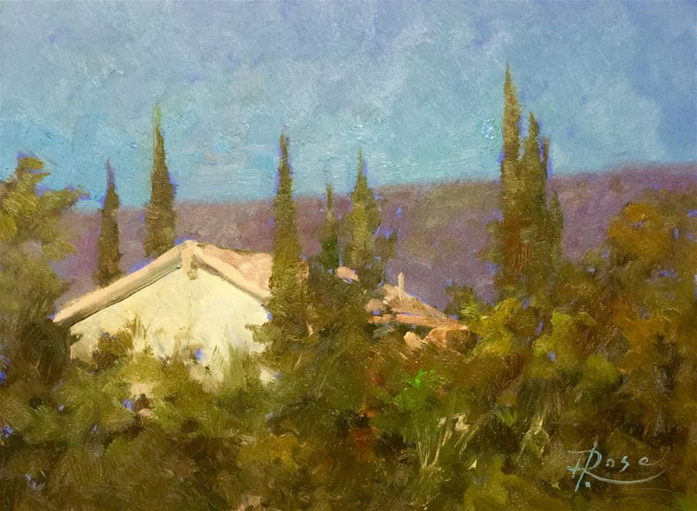"""Tuscany Monestary"" original fine art by Howard Rose"