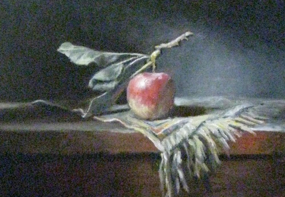 """an apple a day..."" original fine art by tom dawson"