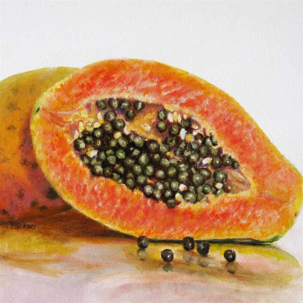 """Papaya"" original fine art by Linda Demers"