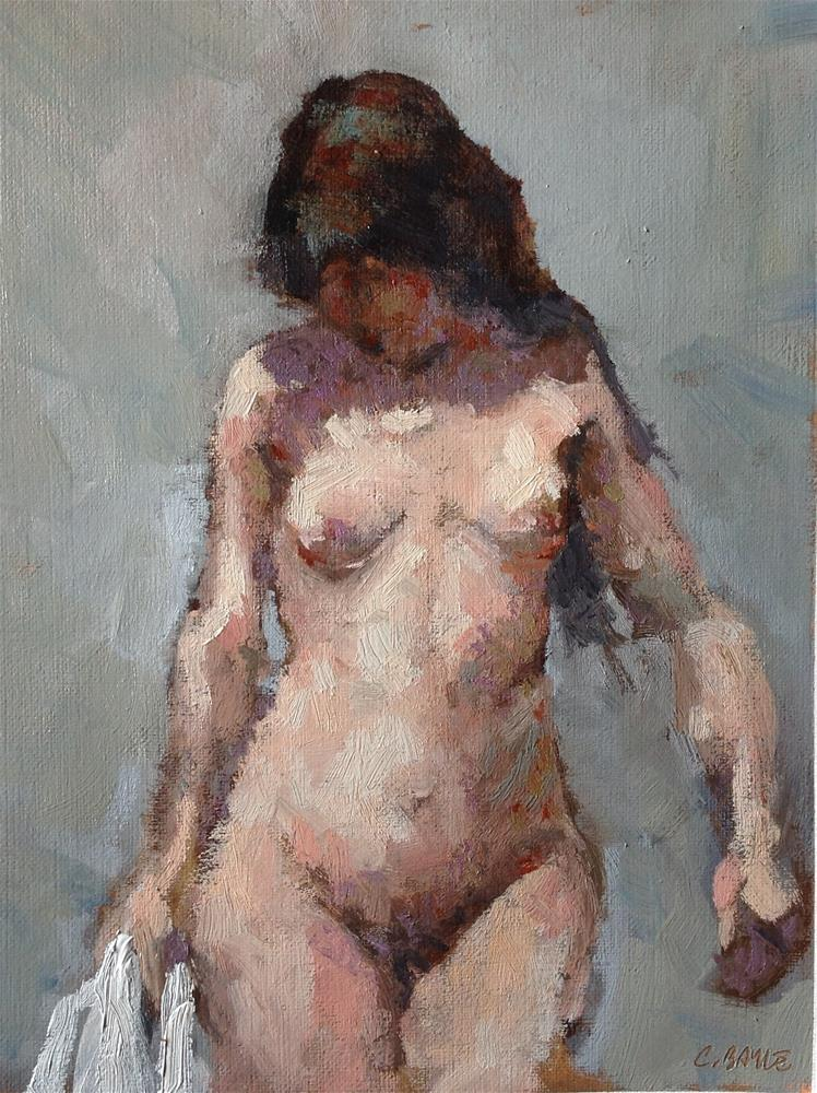 """Nude II"" original fine art by Christine Bayle"