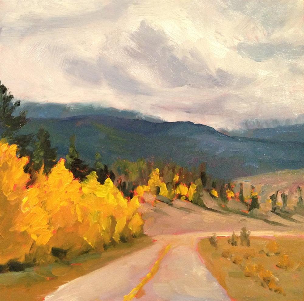 """""""Colorado Road Trip"""" original fine art by Claudia L Brookes"""