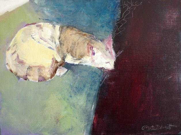 """cat pastel"" original fine art by Claudia Brandt"