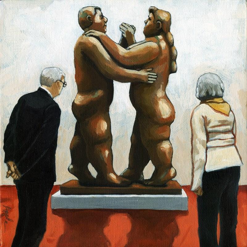 """Couples"" original fine art by Linda Apple"