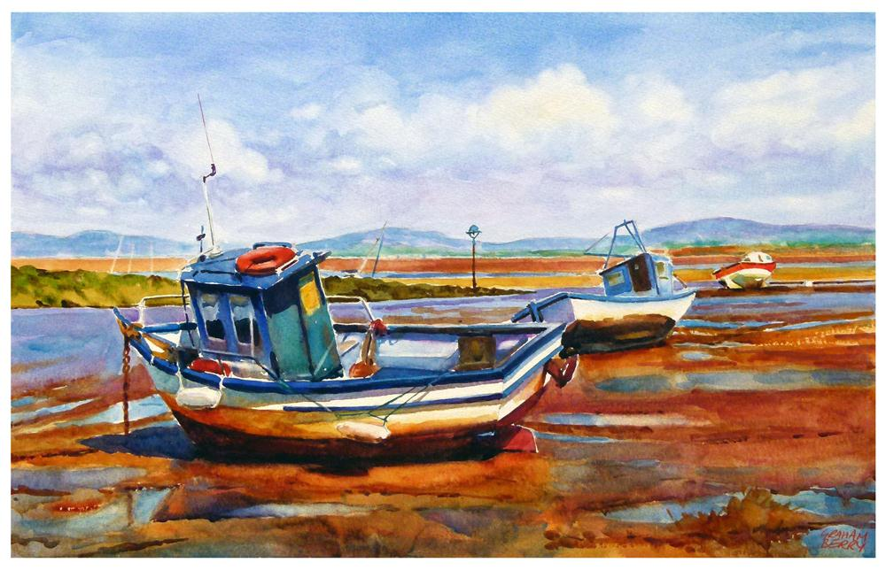 """Morecambe boats"" original fine art by Graham Berry"