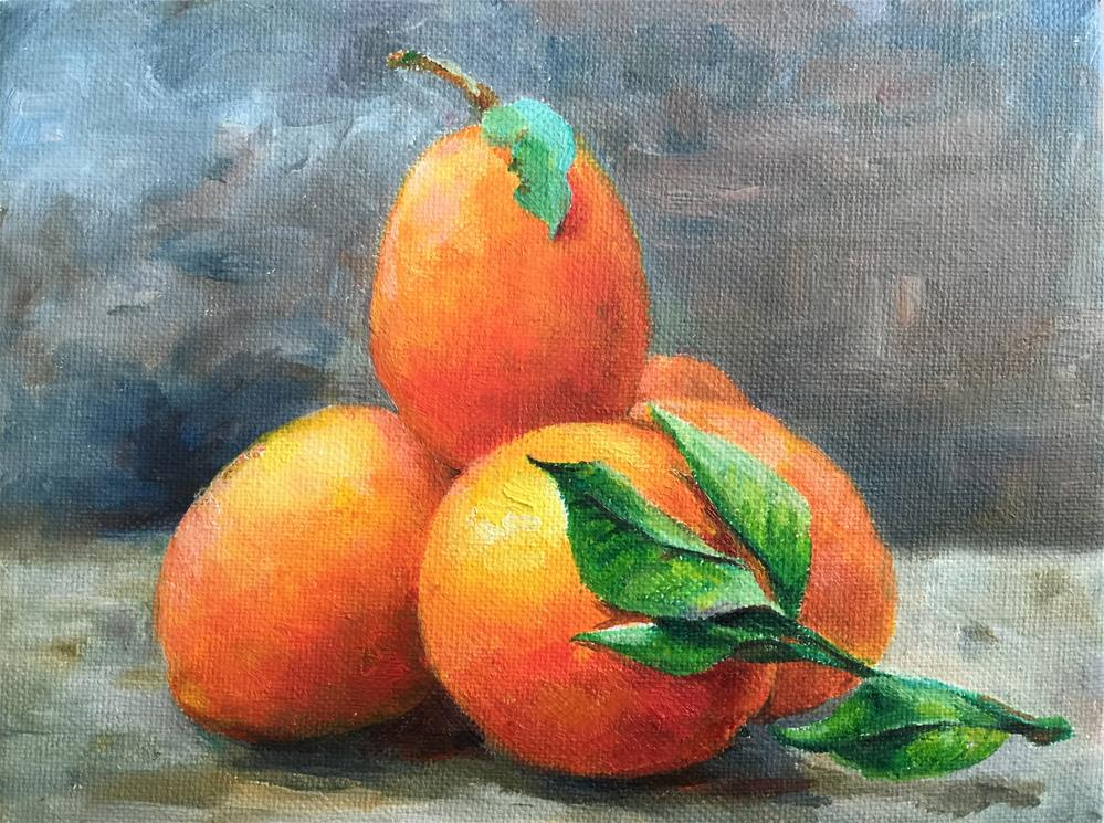 """orange"" original fine art by Joy Cai"