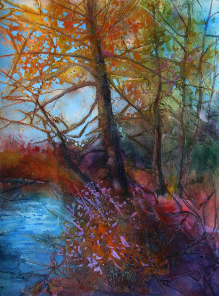 """A Place by the River"" original fine art by Melissa Gannon"