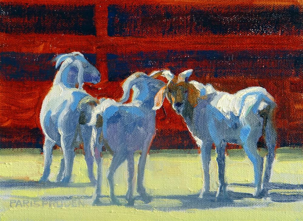"""Goats Looking at Me"" original fine art by Nancy Paris Pruden"