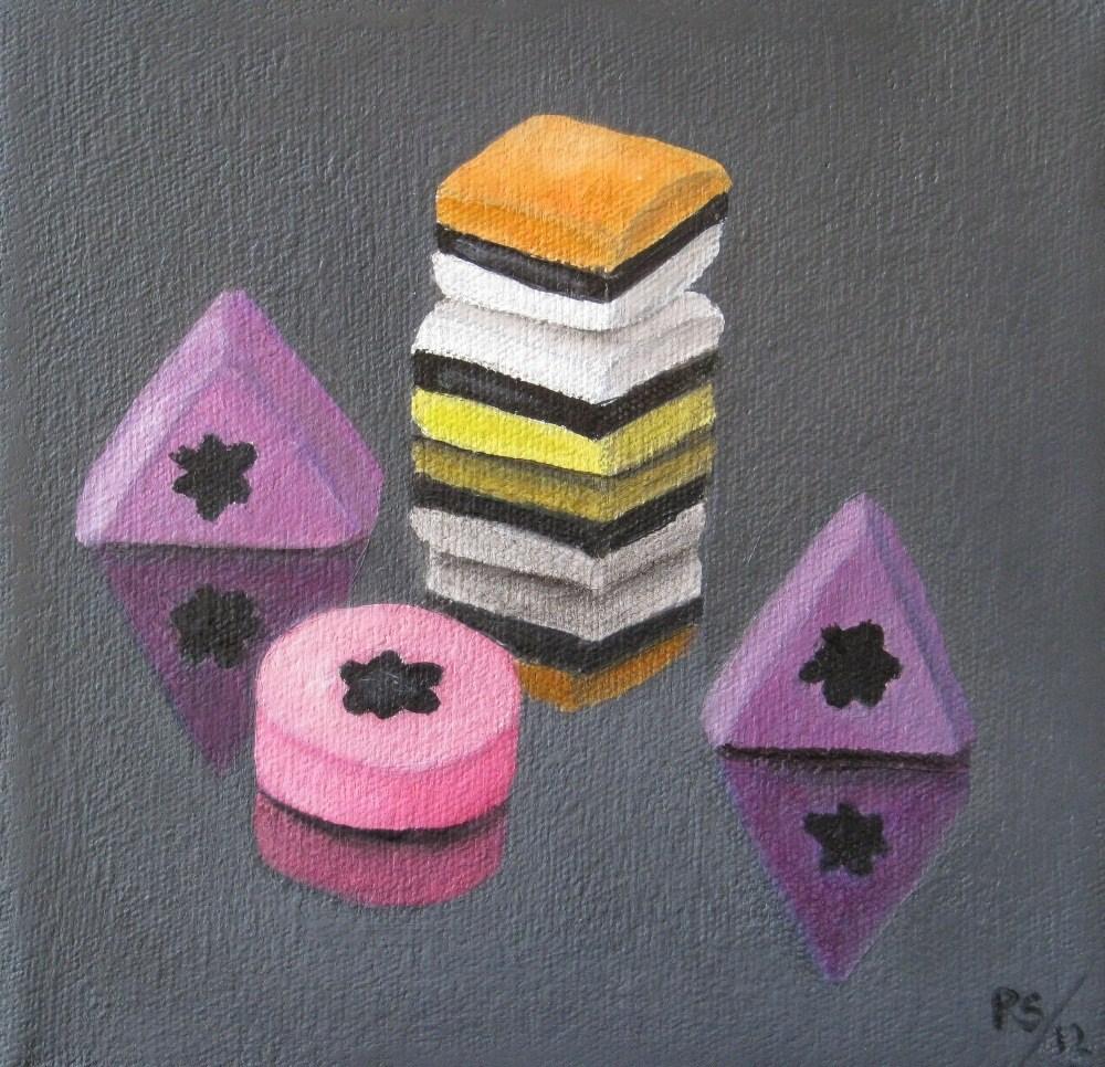 """Liquorice Allsorts IV"" original fine art by Pera Schillings"
