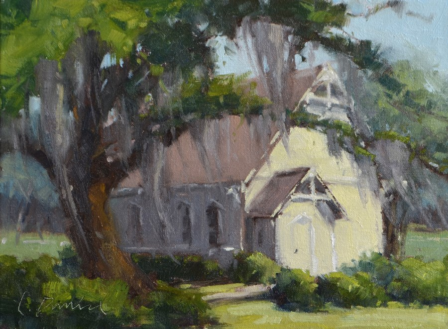 """Chapel Light"" original fine art by Laurel Daniel"