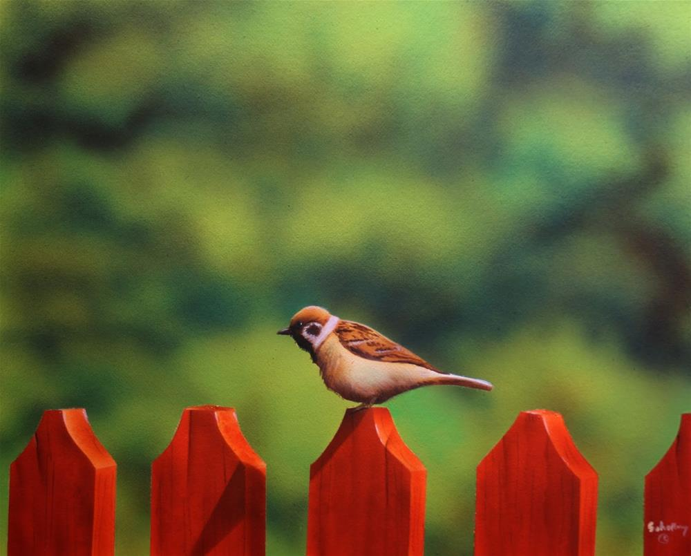 """Over A Fence"" original fine art by Fred Schollmeyer"