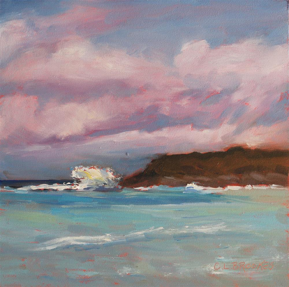 """High Surf"" original fine art by Claudia L Brookes"