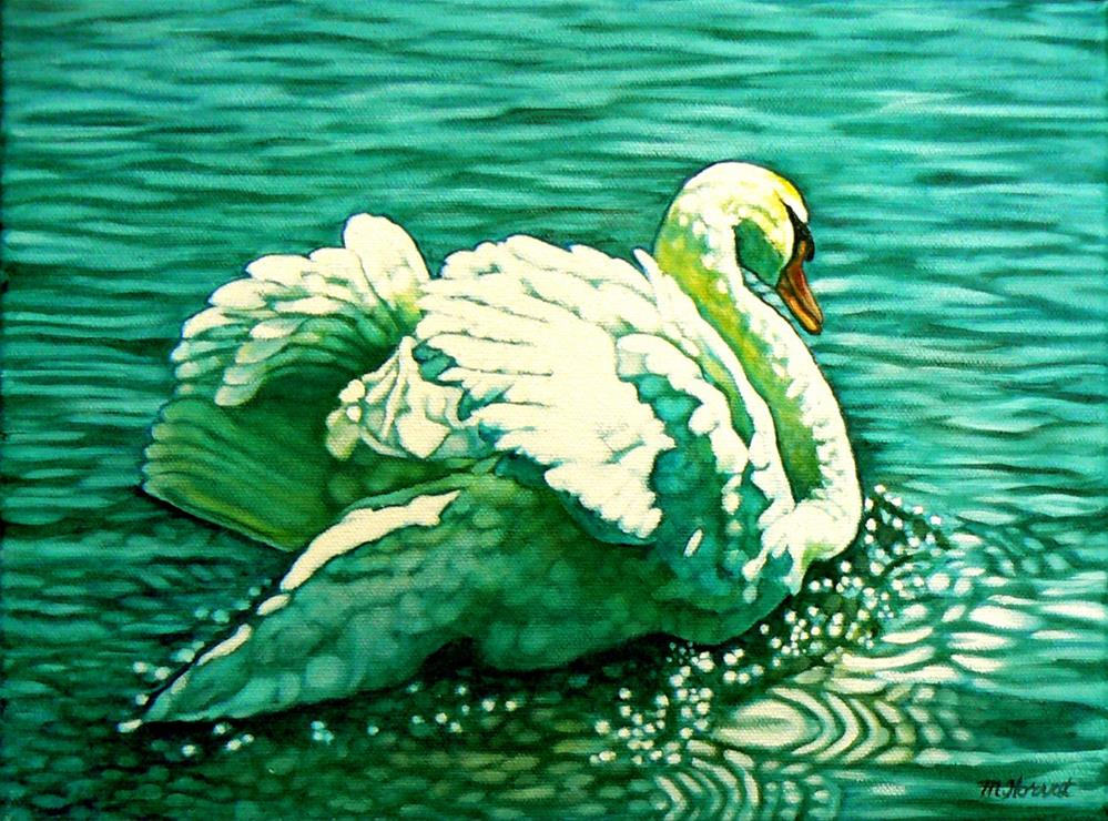"""Stratford Swan I (See Ya Later)"" original fine art by Margaret Horvat"