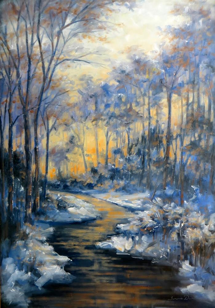 """Winter Magic"" original fine art by Tammie Dickerson"