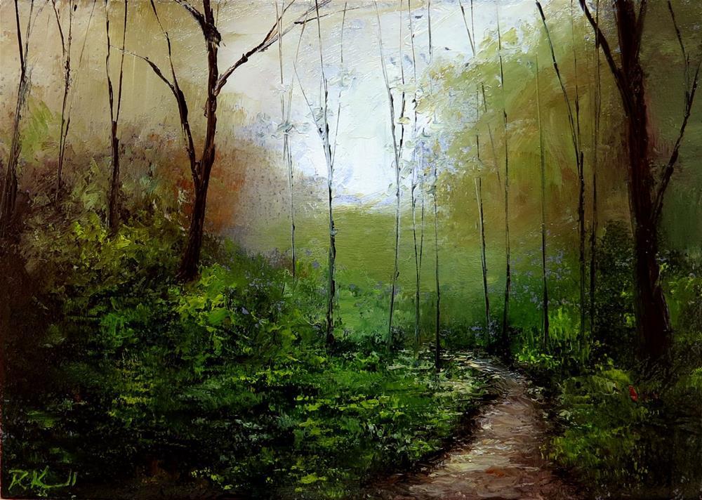 """""""Deep Woods"""" original fine art by Bob Kimball"""
