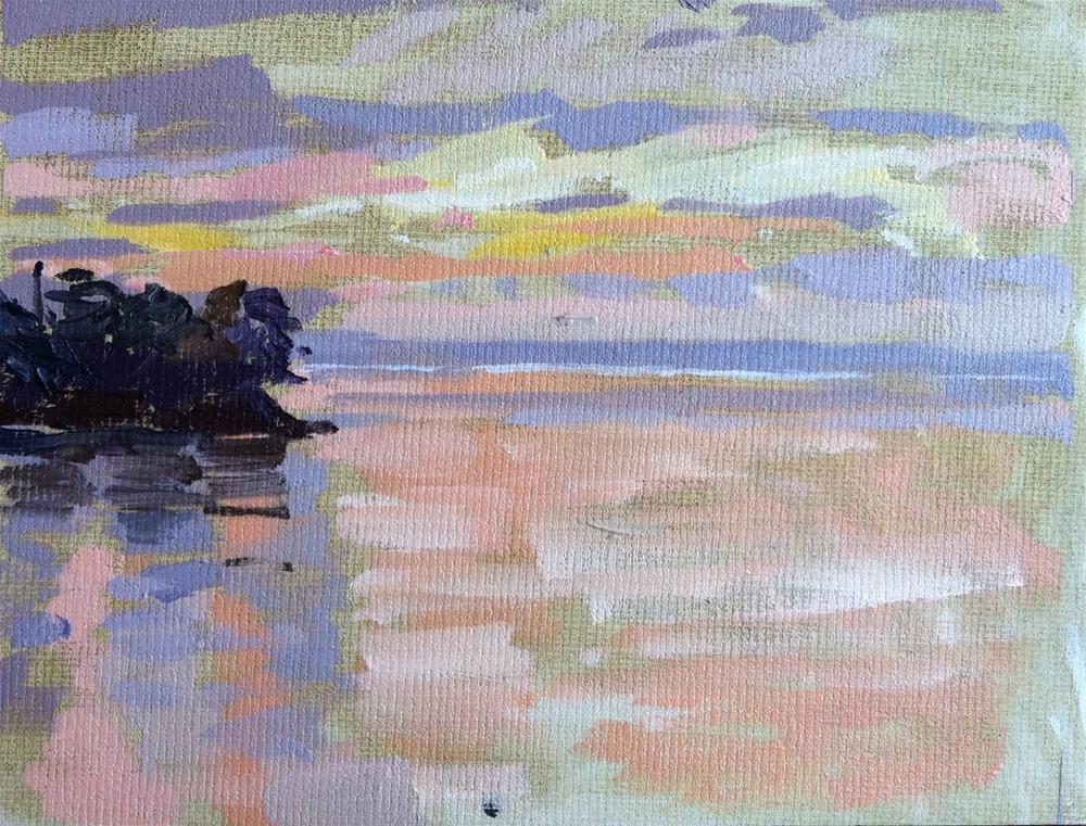 """Sunset in Douarnenez"" original fine art by Haidee-Jo Summers"
