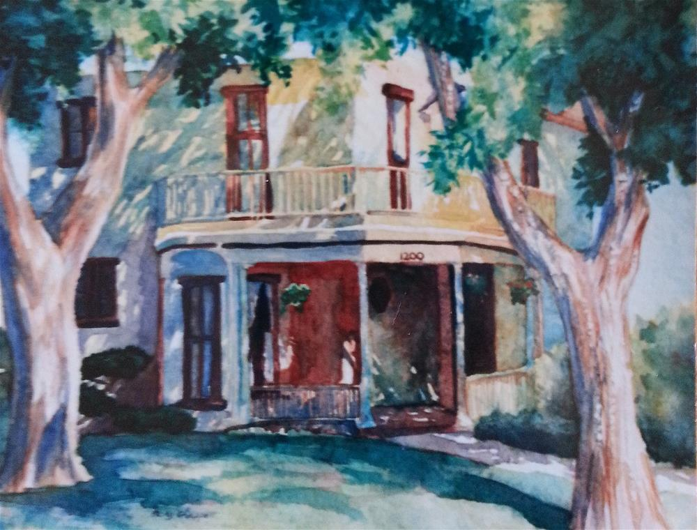"""Commissioned Boulder Home 2"" original fine art by Becky Chappell"