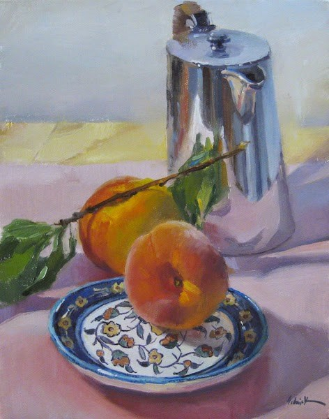 """Peaches and Tea"" original fine art by Sarah Sedwick"