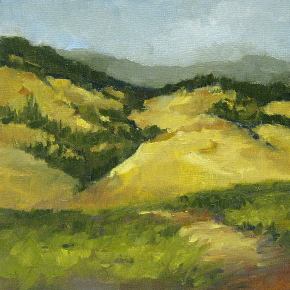 """Hillside Patterns"" original fine art by Melanie Thompson"