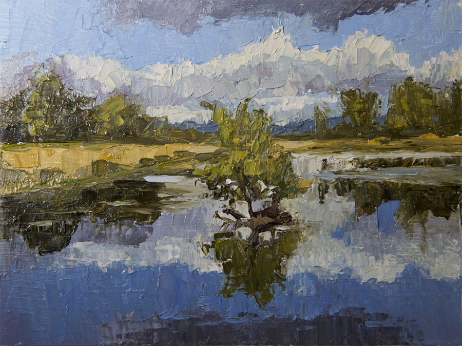 """Island Reflection"" original fine art by Jethro Knight"
