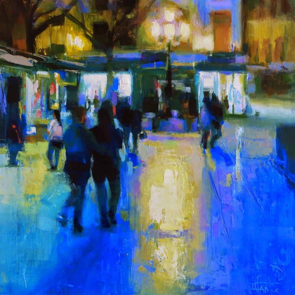 """Birrambla at night"" original fine art by Víctor Tristante"