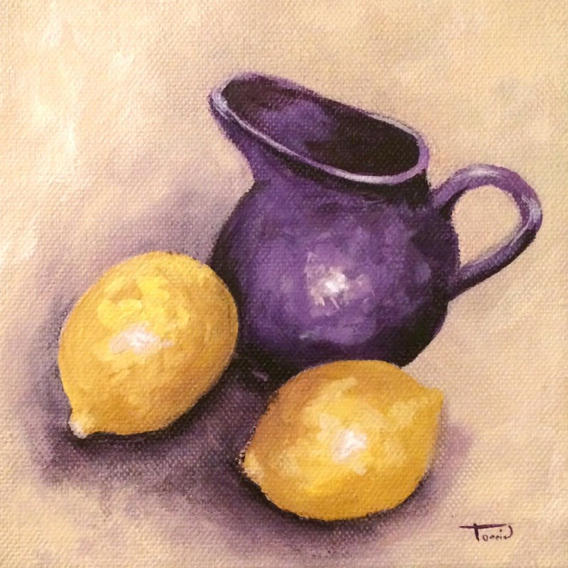 """Lemons and Creamer II"" original fine art by Torrie Smiley"