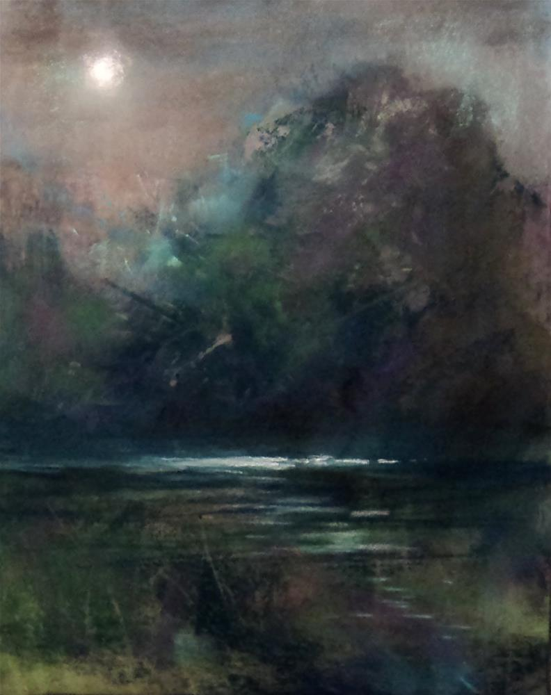 """Moon River"" original fine art by Judy Albright"
