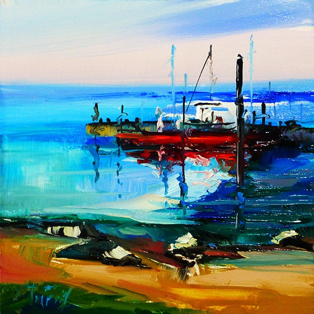 """Im Hafen"" original fine art by Jurij Frey"
