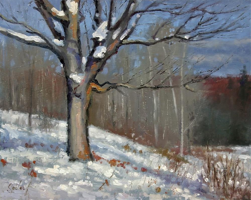 """Lone Tree"" original fine art by Larry Seiler"