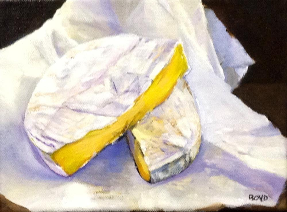 """Beautiful Brie"" original fine art by Cathy Boyd"