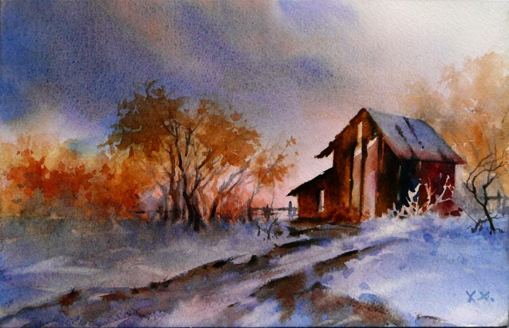 """First Snow"" original fine art by Arena Shawn"